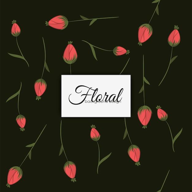 Estilo vintage sem costura padrão de flor