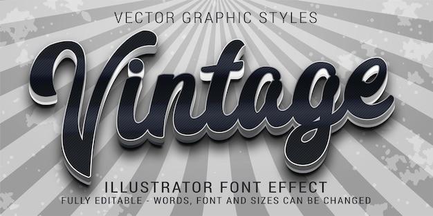 Estilos gráficos vintage metálicos criativos dos anos 70, efeito de texto editável