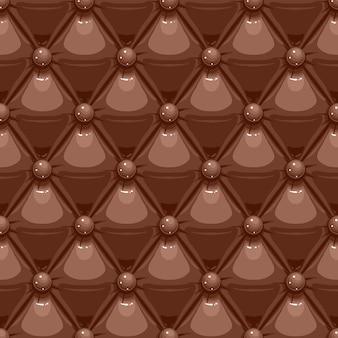 Estofamento de couro marrom
