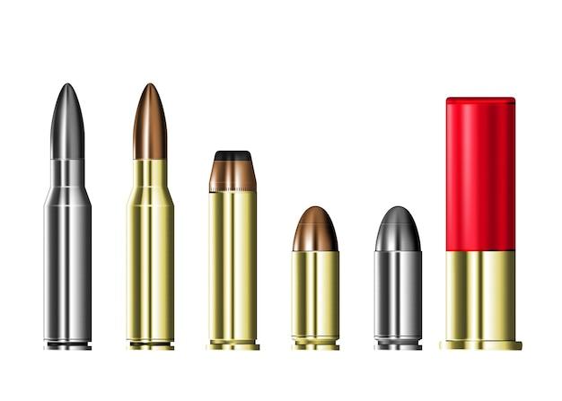 Estojos de cartucho com balas