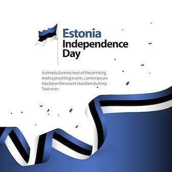 Estónia dia da independência vector design ilustração do modelo