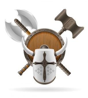 Estoque antigo de armas de batalha.