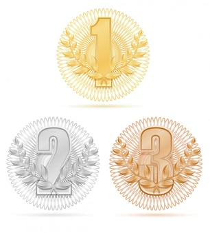 Estoque de bronze de prata do ouro do esporte do vencedor da grinalda de laureate.
