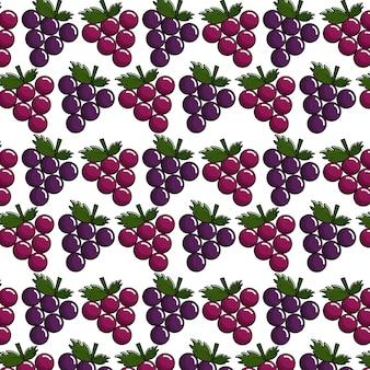 Estoque de ícone de fundo de uvas