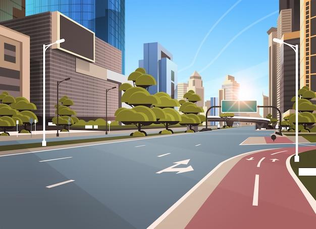 Estrada de asfalto com bicicleta
