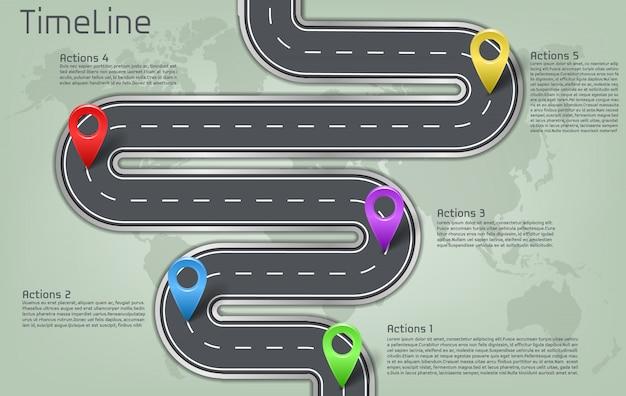 Estrada de carro corporativo da empresa no marco do mapa do mundo