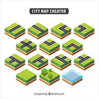 Estrada de reposição, para criar uma cidade