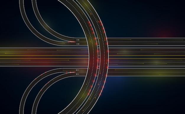 Estrada de tráfego futurista