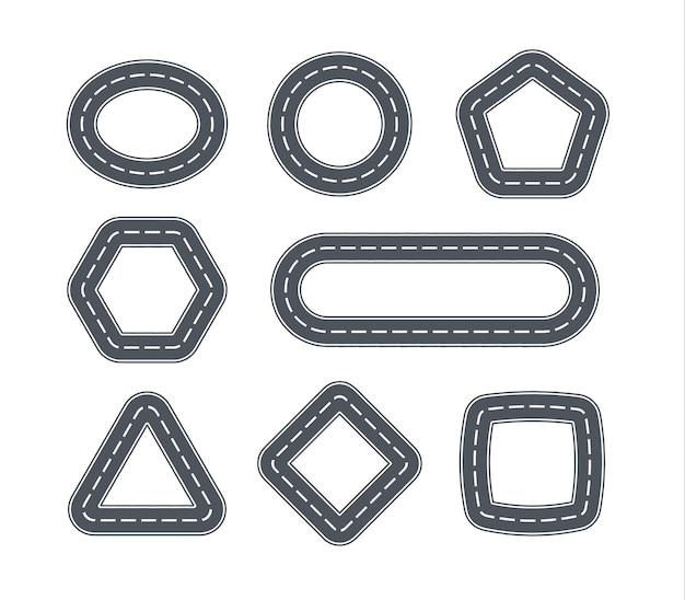 Estrada em forma de formas geométricas.