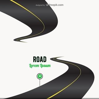 Estrada go sinal de fundo