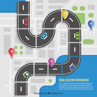 Estrada Localização Infográfico