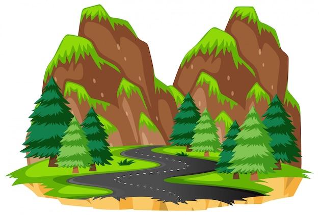 Estrada para a natureza