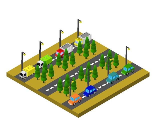 Estradas e árvores isométricas