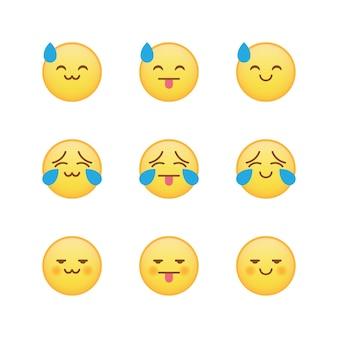 Estranho combinação emoji emoticon set