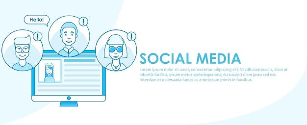 Estratégia de banner de mídia social