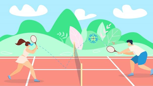Estratégia de desenvolvimento de jogo de tênis de banner