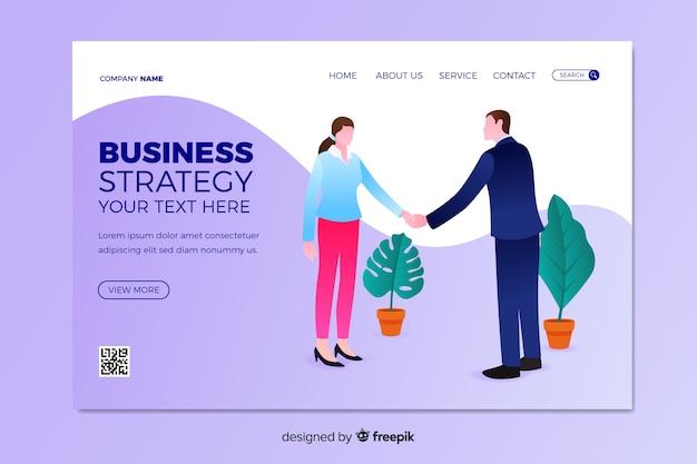 Estratégia de negócios da página de destino