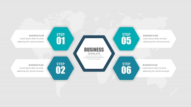 Estratégia de negócios de infográfico de quatro pontos com número