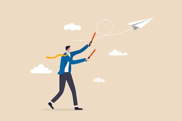 Estratégia de negócios ou liderança para controlar o projeto de trabalho