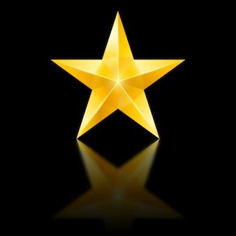 Estrela amarela no preto