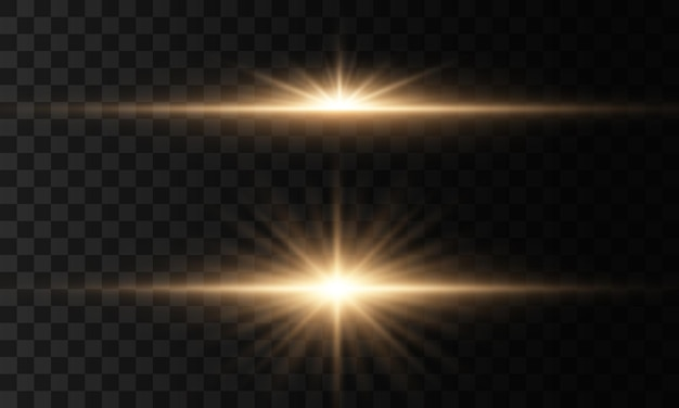 Estrela brilhante, brilhos de sol brilhante transparente, efeito de luz de flash. luzes brilhantes e estrelas isoladas. conjunto de luz explode. partículas de poeira mágica cintilantes.