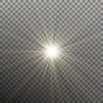 Estrela brilhante e brilhante. explodindo explosão. fundo transparente apenas em