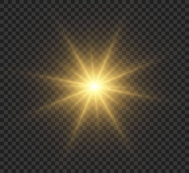 Estrela brilhante, efeito de luz.