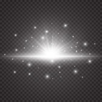 Estrela brilhante, partículas e faíscas com efeito de destaque.
