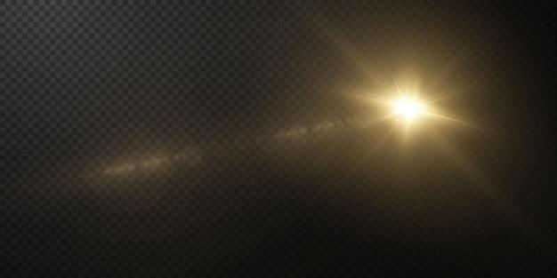 Estrela clara em fundo transparente