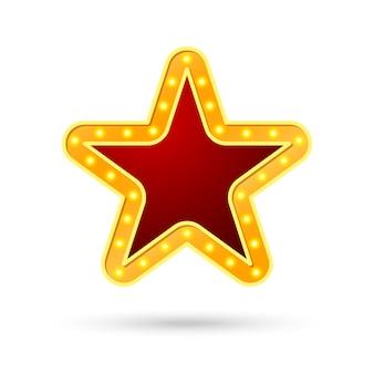 Estrela, conceito de iluminação da lâmpada