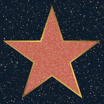 Estrela da calçada da fama de hollywood