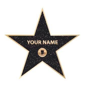Estrela de ator famosa de calçada, calçada da fama de hollywood
