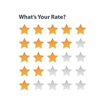 Estrela de classificação para o aplicativo de revisão