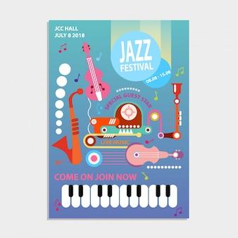 Estrela de convidado especial do festival de jazz
