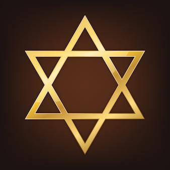 Estrela de davi dourada