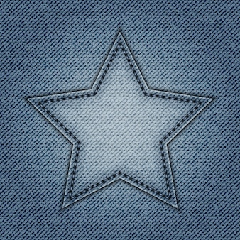 Estrela de jeans azul