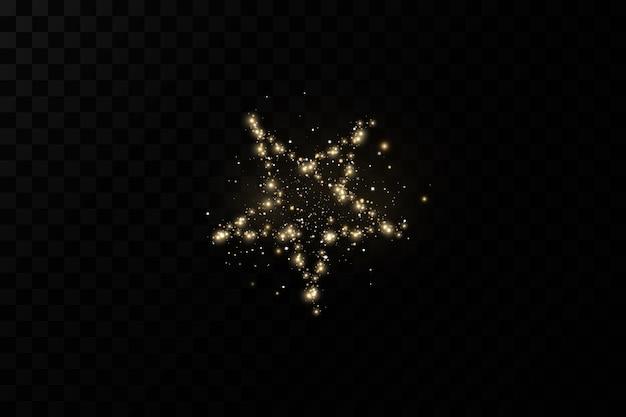 Estrela de natal dourada decoração luxuosa pó