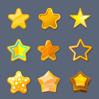 Estrela de ouro brilhante dos desenhos animados