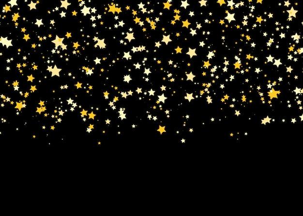 Estrela de ouro . brilho padrão de confete. vetor