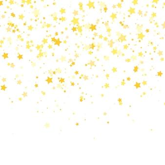 Estrela de ouro . brilho padrão de confete.