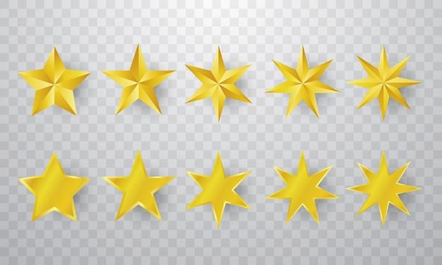 Estrela de ouro definir plano de fundo