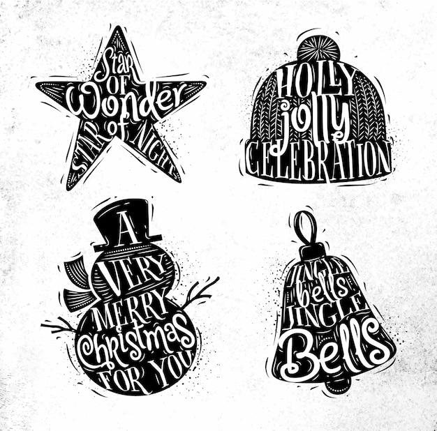 Estrela de silhuetas de natal