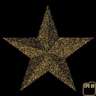 Estrela de vetor de glitter dourados.
