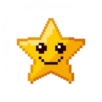 Estrela de videogame pixelizada