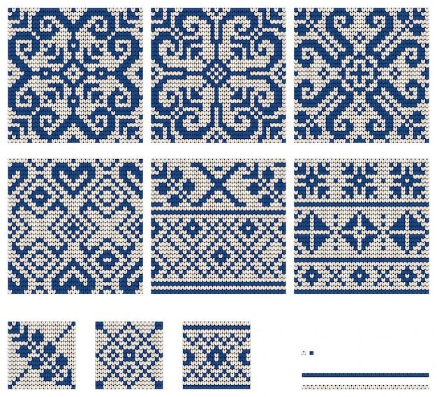 Estrela do báltico tricô padrões