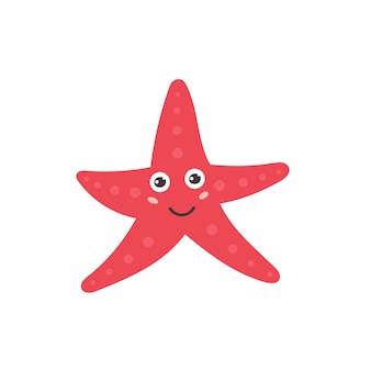 Estrela-do-mar engraçada sorrindo