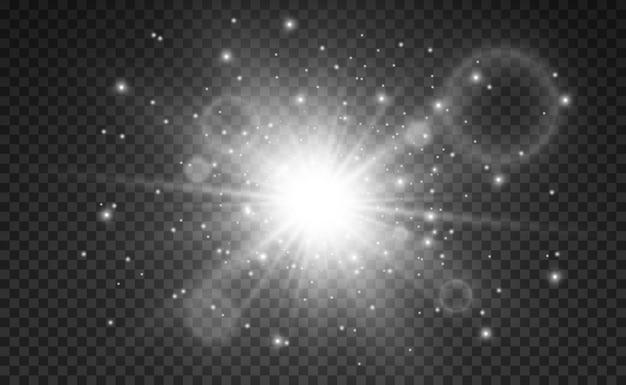 Estrela dourada brilhante efeito de luz estrela brilhante bela luz