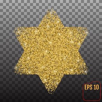 Estrela dourada de davi