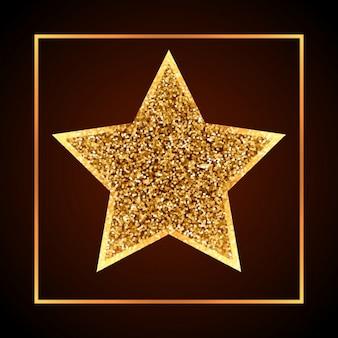 Estrela dourada do natal