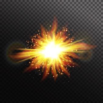 Estrela em fundo transparente